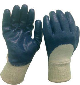 nitrile coated gloves half dip